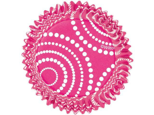 Standard Clearcup Baking Cup-Circle Dots Pink 36/Pkg