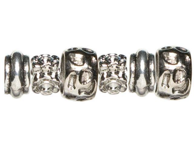 Trinkettes Metal Beads 6/Pkg-Animal Print