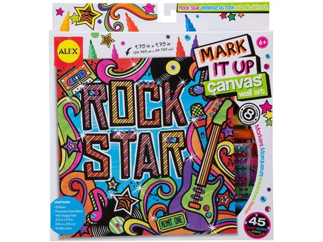 Mark It Up Canvas Wall Art-Rock Star