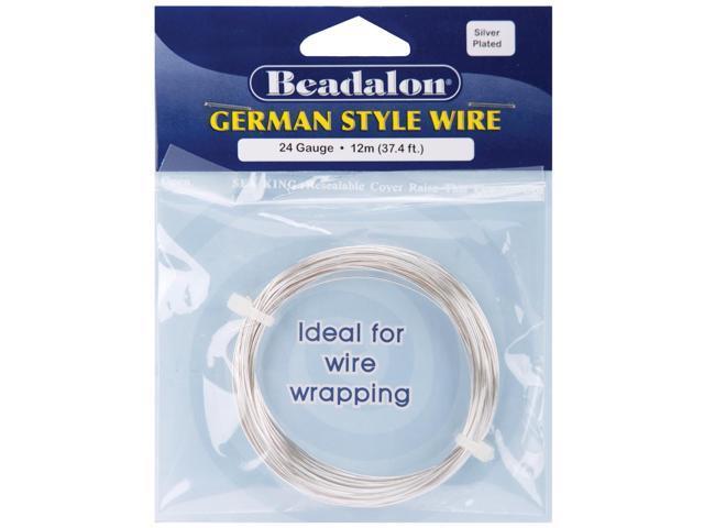 German Style Wire-Silver Round - 24 Gauge, 37.4'