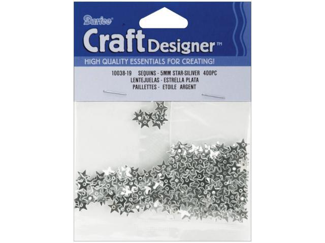 Star Sequins 5mm 400/Pkg-Silver