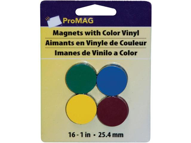 ProMag Round Magnets W/Colored Vinyl-1