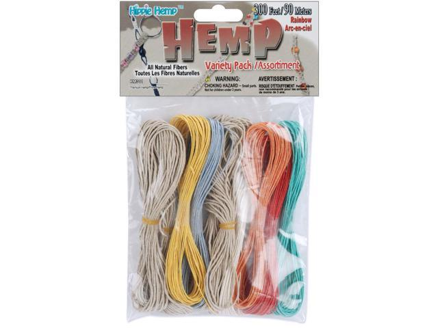 Hemp Cord Variety Pack 300'-Rainbow
