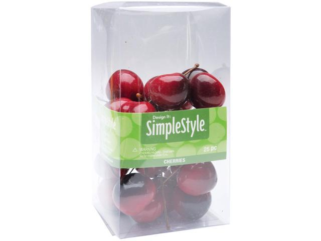 Design It Simple Decorative Fruit 25/Pkg-Mini Cherries