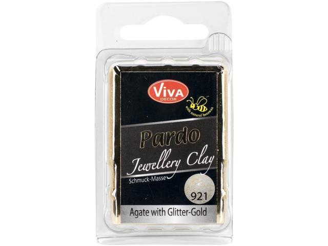 PARDO Jewelry Clay 56g-Agate W/Gold Glitter