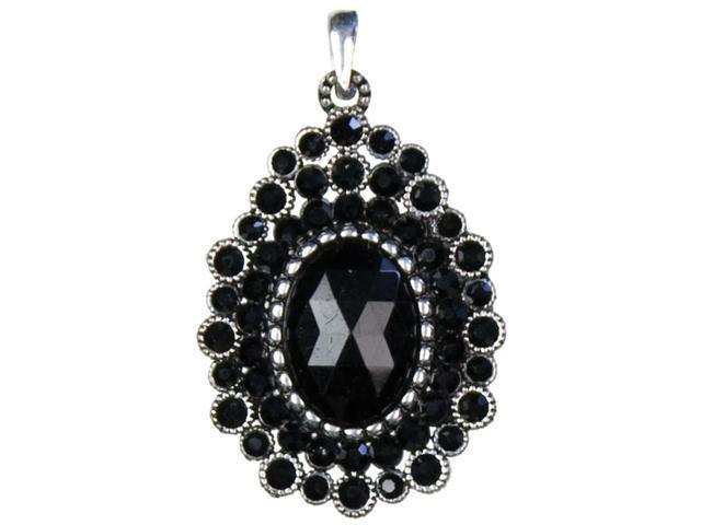 Jewelry Basics Metal Accent 1/Pkg-Black Oval