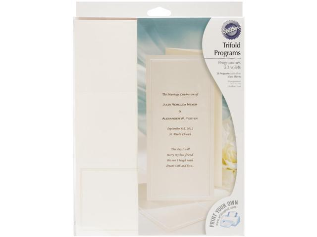Trifold Program Kit Makes 50-Keeping W/Tradition