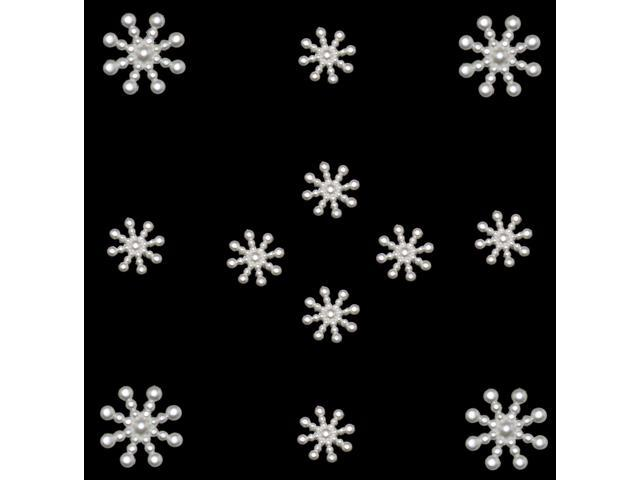 Dress It Up Holiday Embellishments-Pearl Snowflakes