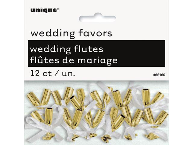 Wedding Flutes 12/Pkg-Gold