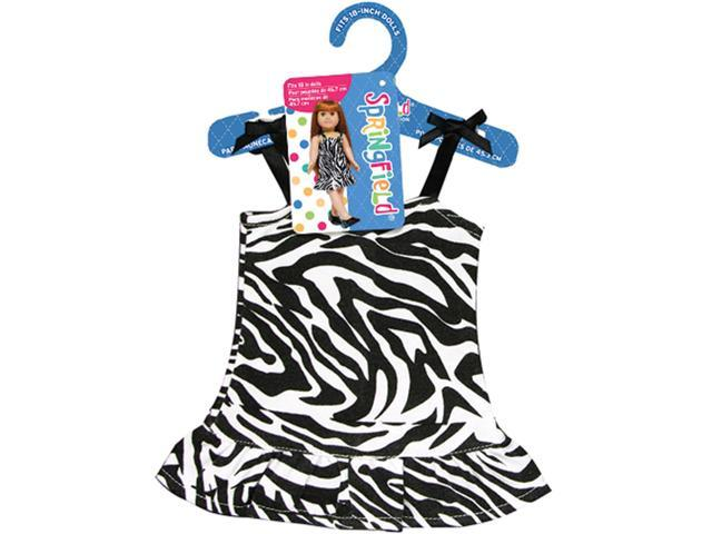 Springfield Collection Zebra Dress-Black & White