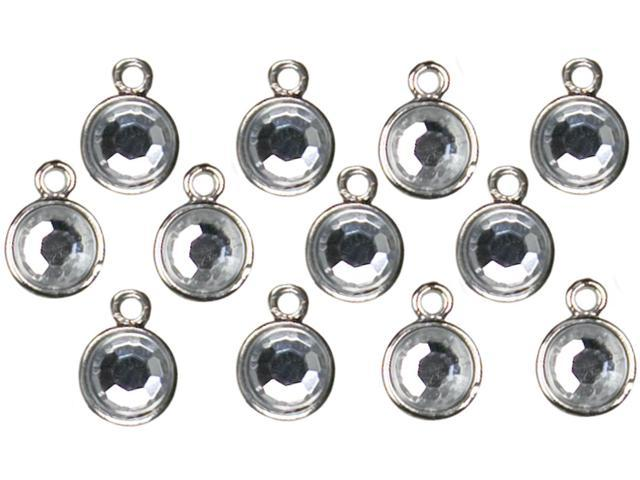 Jewelry Basics Metal Charms-Silver Drops 12/Pkg