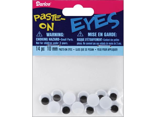Paste-On Wiggle Eyes 10mm 14/Pkg-Black