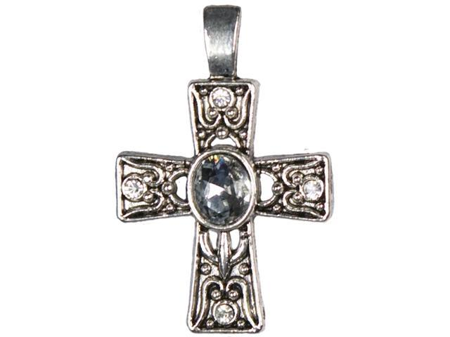 Jewelry Basics Metal Accent 1/Pkg-Silver Deco Cross