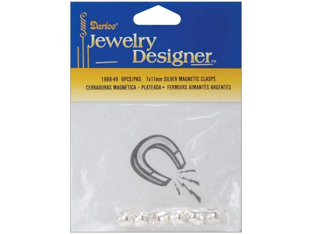 Magnetic Clasps 7mmX11mm 3/Pkg-Silver