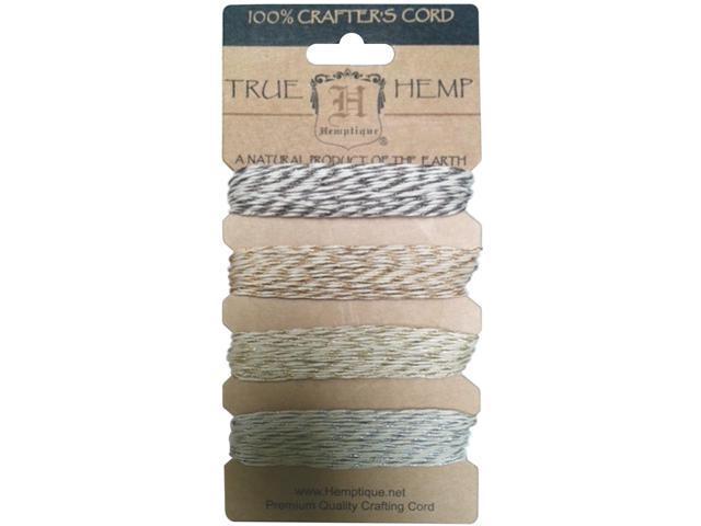 Hemp Metallic Cord 20lb-Vintage 168'