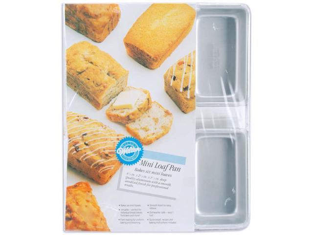 Wilton 6 MINI LOAF PAN SET Bake Nut Bread Cake Holiday