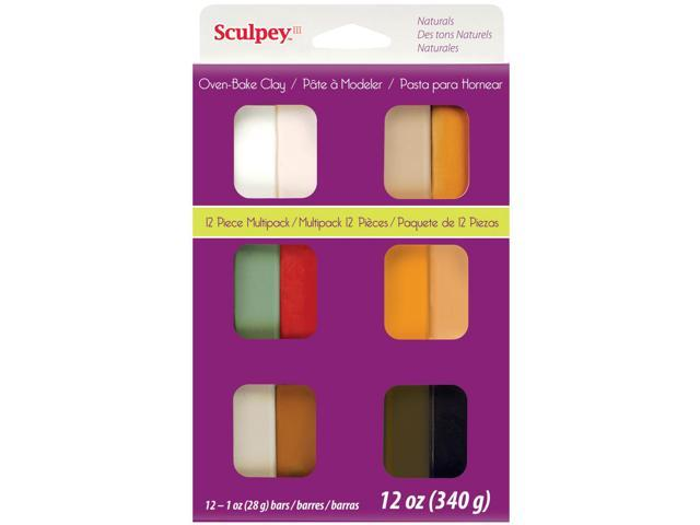 Sculpey III Polymer Clay Multipack 1oz 12/Pkg-Naturals