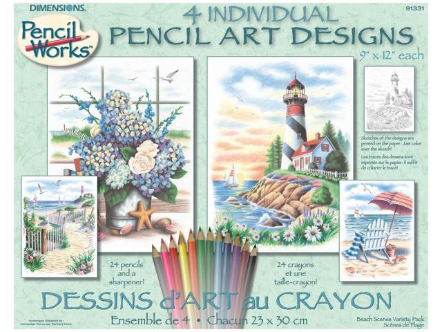 Pencil Works Color By Number Kit 9