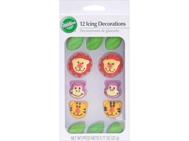 Royal Icing Decorations 12/Pkg-Jungle Pals