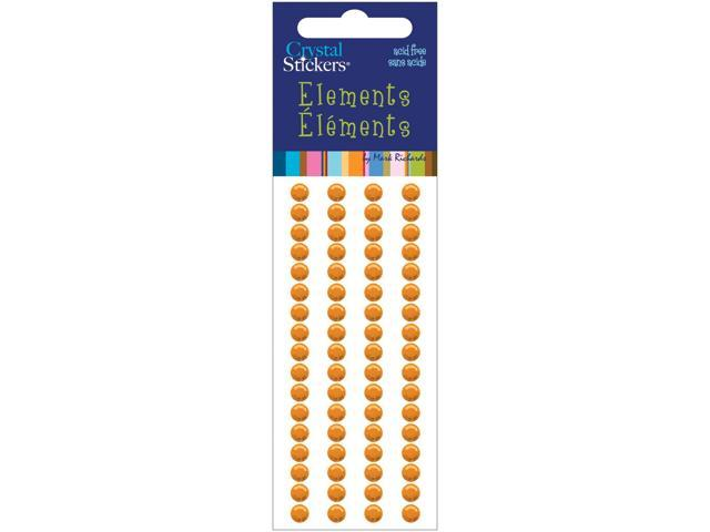 Crystal Stickers Elements 5mm Round 68/Pkg-Orange
