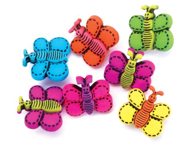 Favorite Findings Buttons-Butterfly Dreams 6/Pkg