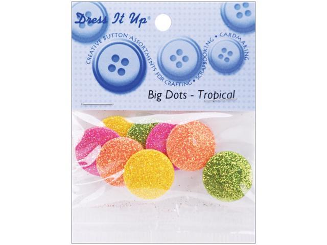 Dress It Up Embellishments-Big Dots Tropical