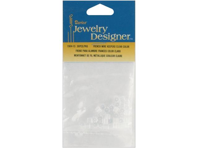French Wire Rubber Earring Backs 36/Pkg-Clear