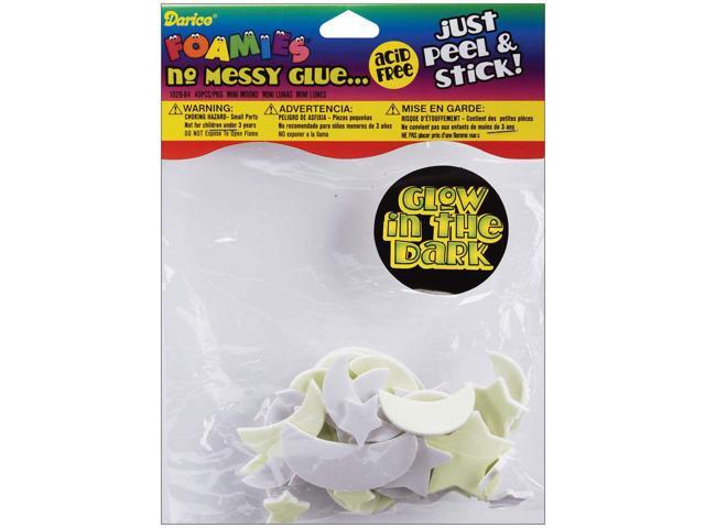 Foam Stickers 40/Pkg-Glow-In-The-Dark Moons