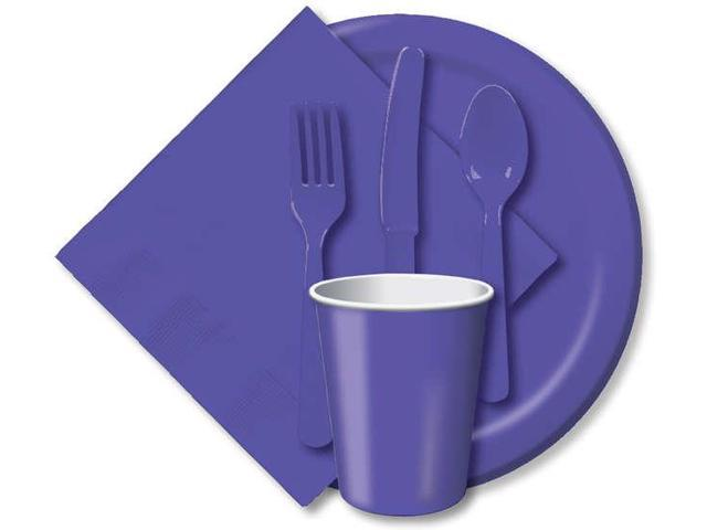 Heavy-Duty Cutlery 24/Pkg-Purple
