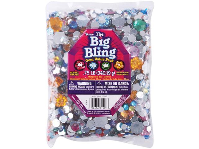 Rhinestone Shapes .75lb-Flowers & Round