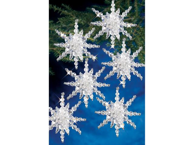 Holiday Beaded Ornament Kit-Snow Clusters 3.5