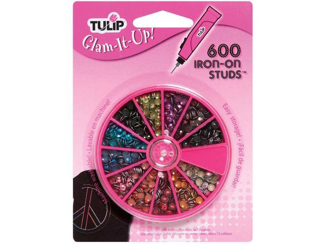Tulip Glam-It-Up! Iron-On Studs 600/Pkg-Assorted Colors