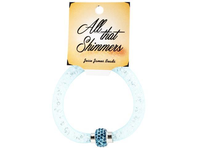 All That Shimmers Readymade Bracelets-Turquoise