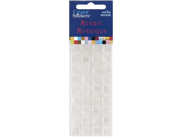 Crystal Stickers Mosaics 10mm 36/Pkg-White