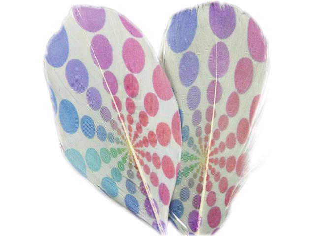 Printed Feathers 2/Pkg-Psychedelic Dot