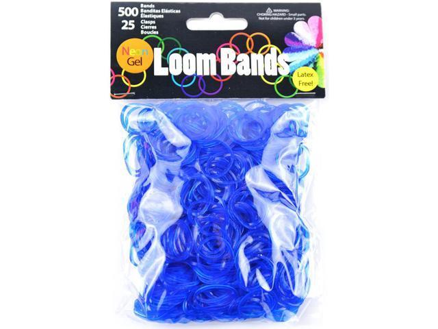 Gel Loom Bands 500/Pkg W/25 Clasps-Dark Blue