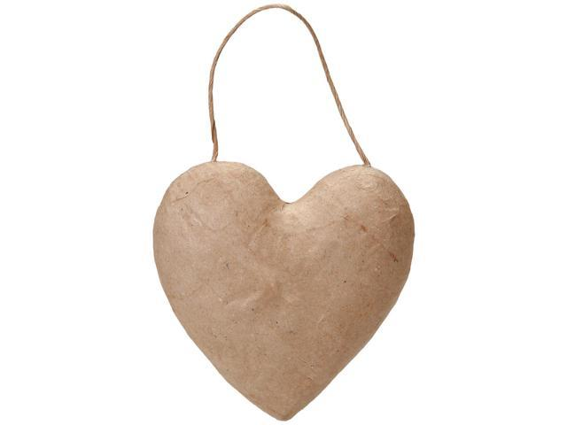 Paper-Mache Puffy Heart Ornament-5.5
