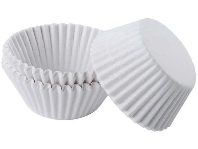 Baking Cups-White 75/Pkg - Standard