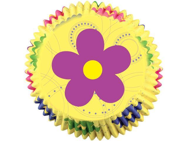 Baking Cups-Dancing Daisies 100/Pkg-Mini