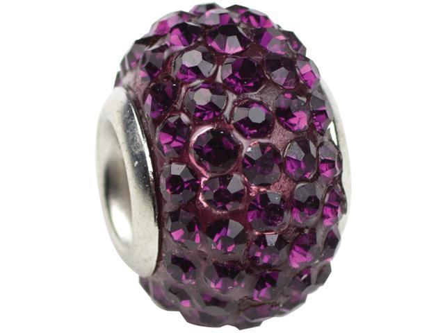 Trinkettes Glass Rhinestone Bead 1/Pkg-February