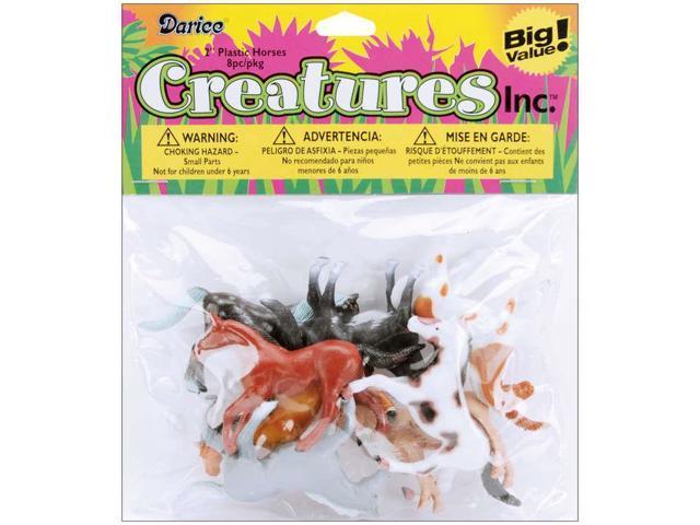 Creatures Inc.-Horses 8/Pkg