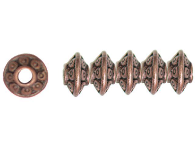 Jewelry Basics Metal Beads 6mm 45/Pkg-Copper Rondelle