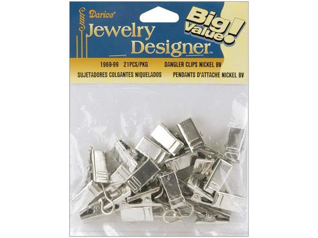 Dangler Clips 21/Pkg-Nickel