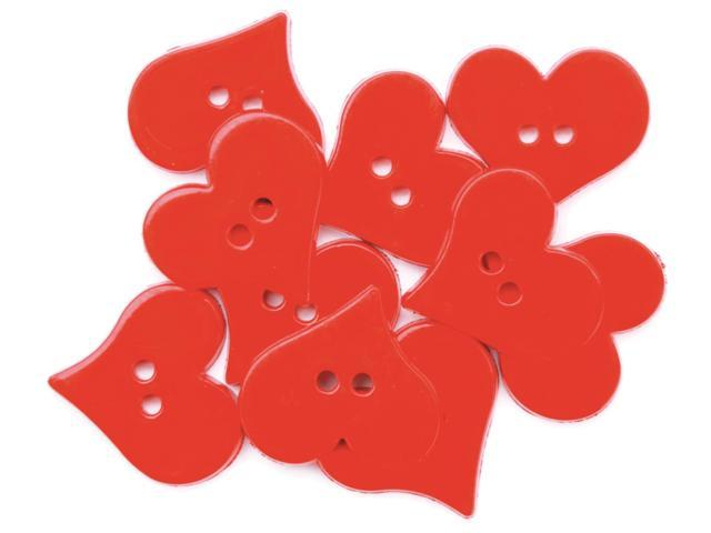 Favorite Findings Holiday Buttons-Valentine's Hearts 12/Pkg