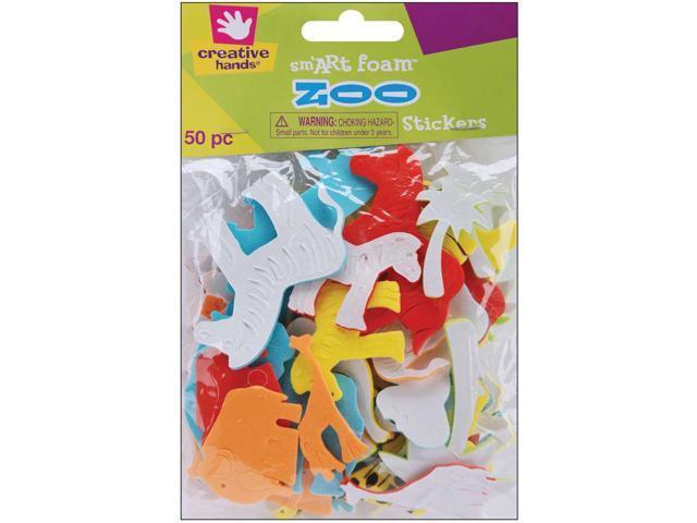 Foam Stickers 50/Pkg-Zoo