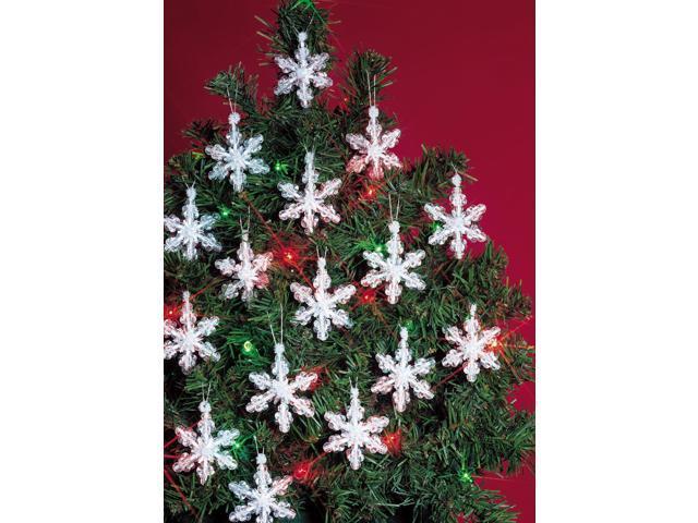 Holiday Beaded Ornament Kit-Mini Snowflakes 2