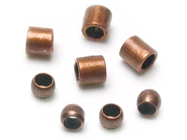 Jewelry Basics Metal Findings 500/Pkg-Copper Crimp Tubes 2mm