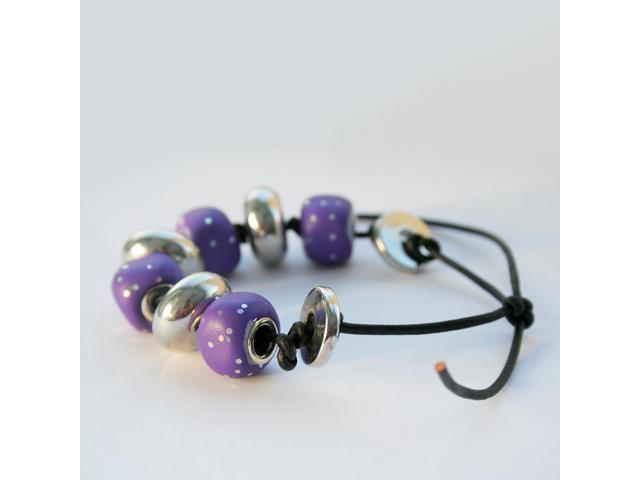 Pardo Jewelry Clay 56G-Lavender Jade W/Silver Glitter