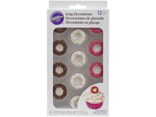 Royal Icing Decorations 12/Pkg-Doughnuts
