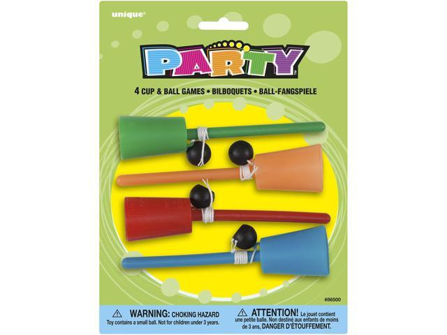 Party Favors-Cup & Ball 4/Pkg